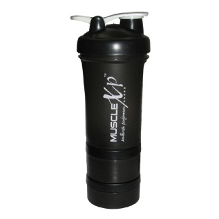 MuscleXP Advanced Stak Protein Shaker for Professionals,  Design 11 Black & White  500 ml