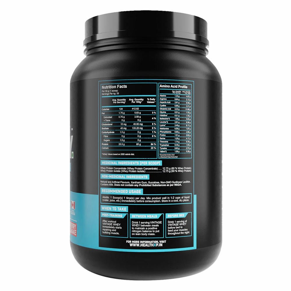 supplementinfo - HealthXP Vintage Whey,  2.2 lb  Chocolate