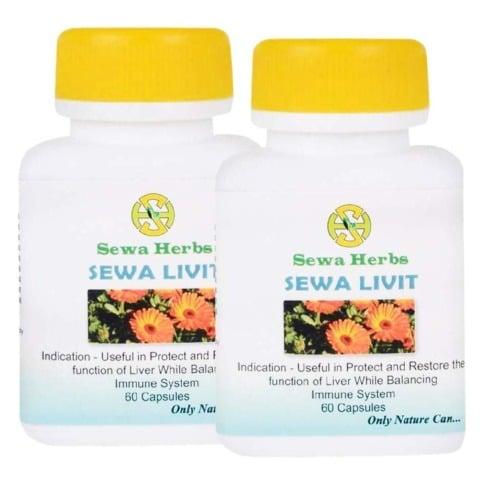 Sewa Herbs Livit, 60 capsules - Pack of 2