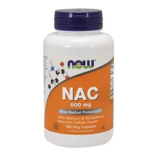 Now Nac-Acetyl Cysteine (600mg),  100 veggie capsule(s)
