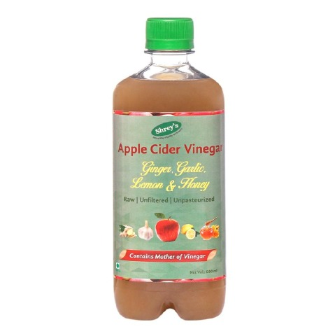 Shrey's Apple Cider Vinegar,  0.5 L  Ginger, Garlic, Lemon & Honey
