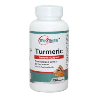 Way2Herbal Turmeric,  120 capsules