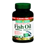 Nature's Bounty Omega-3 Fish Oil 1000Mg Cholestrol Free,  110 Softgels