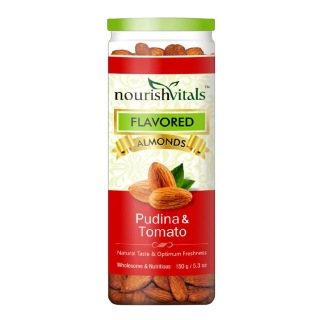 NourishVitals Roasted Almonds,  Pudina & Tomato  0.150 kg