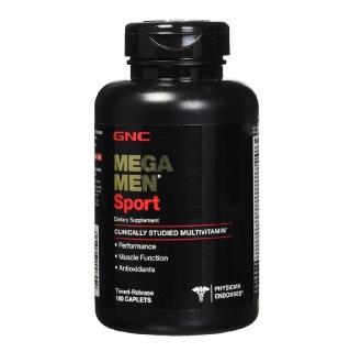GNC Men's Mega Men Sports,  Unflavoured  180 caplets