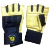Rocclo Weight Lifting Gloves-5110,  Yellow & Black  Large