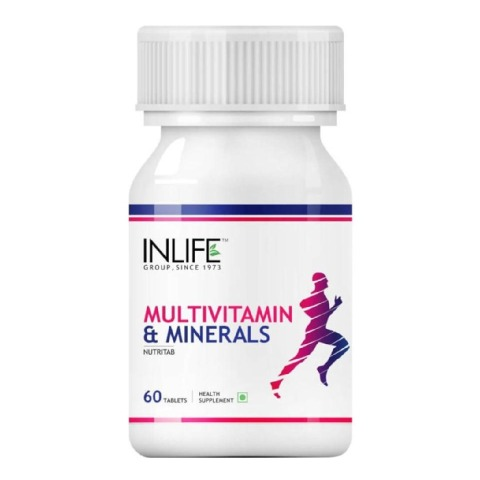 INLIFE Multivitamin & Minerals,  Unflavoured  60 tablet(s)