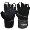 KOBO Gym Gloves (WTG-14),  Black  Large