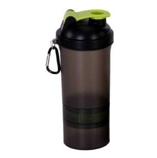 GHC 3-Compartment Shaker Bottle,  Green  600 ml