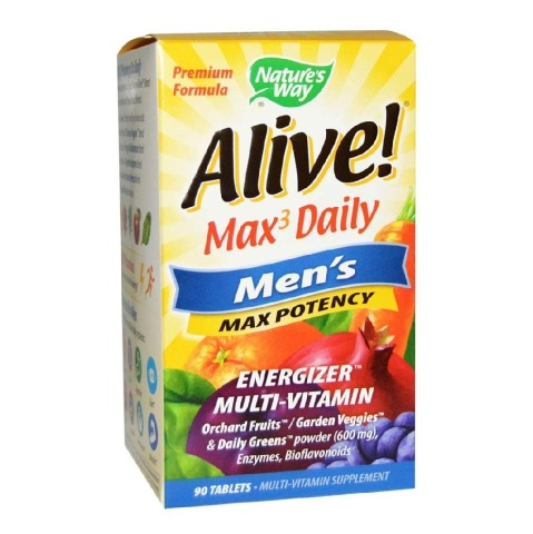 Nature's Way Alive! Men's Max Potency,  90 tablet(s)  Unflavoured