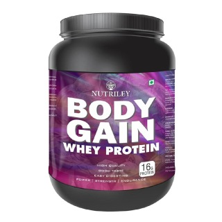 Nutriley Body Gain Whey Protein,  1.1 lb  Vanilla
