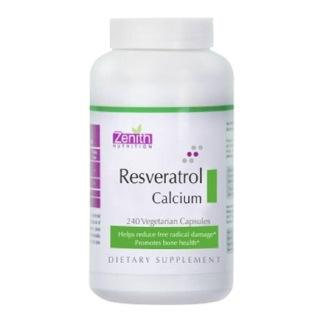 Zenith Nutrition Resveratrol Calcium (100 mg),  240 capsules