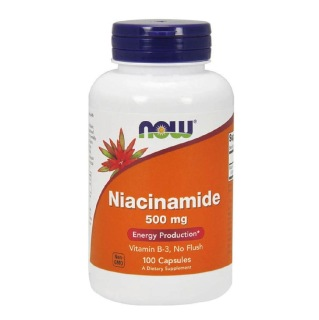 Now Niacinamide B-3 (500mg),  Unflavoured  100 capsules