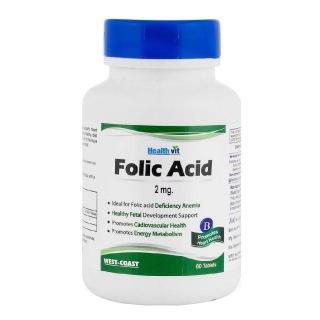 Healthvit Folic Acid (2 mg),  Unflavoured  60 tablet(s)