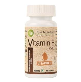 Pure Nutrition Vitamin E,  60 capsules