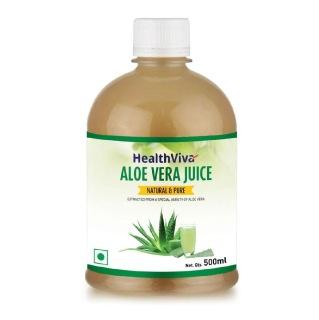 HealthViva Aloe Vera Juice,  Unflavoured  0.5 L