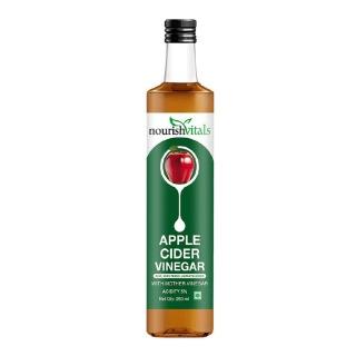NourishVitals Apple Cider Vinegar with Mother,  0.250 L  Unflavoured