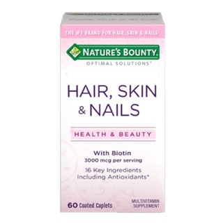 Nature's Bounty Hair, Skin & Nails,  60 caplets  Unflavoured
