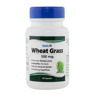 Healthvit Wheat Grass (500 mg),  60 capsules