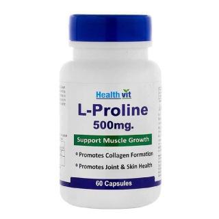 Healthvit L-Proline (500 mg),  60 capsules