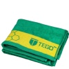 Tego Antimicrobial Sports Towel,  Green & Yellow  16 x 30 Inches