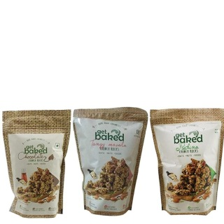 Get Baked Crunch Rocks Combo of 3,  Chocolate Tangy Masala & Pudina  0.150 kg