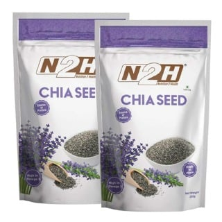 N2H Chia Seed Pack of 2,  0.2 kg  Unflavoured