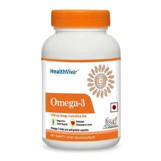 HealthViva Omega 3 Supplement,  60 softgels