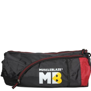 MuscleBlaze Gym Bag,  Black with Red