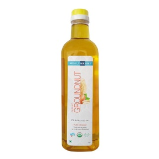 HealthKart Cold Pressed Organic Groundnut Oil,  1 L