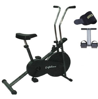 Lifeline Exercise Cycle 102 with Tummy Trimmer and Sweat Belt