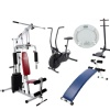 Lifeline Home Gym 002, Curve Bench 5501A, Air Bike 103, Standing Twister and Manual Weighing Machine