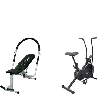 Lifeline Fitness Combo Ab Care 111 and Air Bike 103