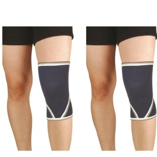 B Fit USA Knee Support (2010),  Black & White  Free Size