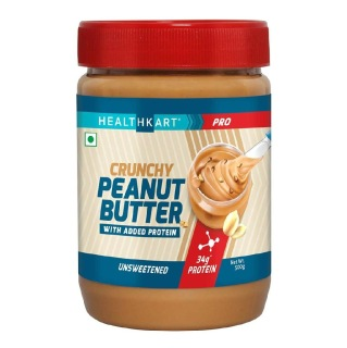 5 - HealthKart Peanut Butter Protein Fortified Unsweetened,  Crunchy  0.5 kg