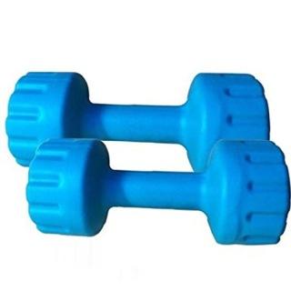 Aurion Plastic Dumbell Set,  Blue  5 kg