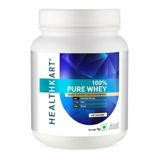 2 - HealthKart 100% Pure Whey Protein,  2.2 lb  Unflavoured