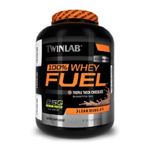 TWINLAB 100% Whey Fuel,  5 lb  Triple Thick Chocolate