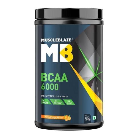 MuscleBlaze BCAA 6000 400gms (50 Servings)
