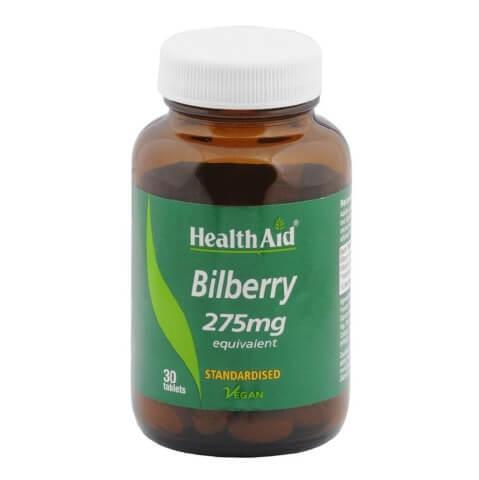 HealthAid Bilberry (275 mg),  30 tablet(s)
