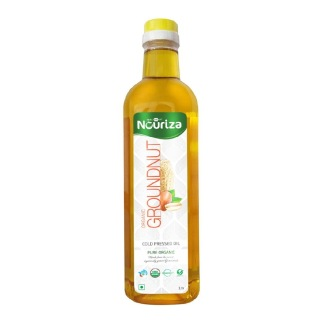 Nouriza Cold Pressed Organic Groundnut Oil,  1 L
