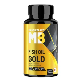 MuscleBlaze Fish Oil Gold,  90 capsules