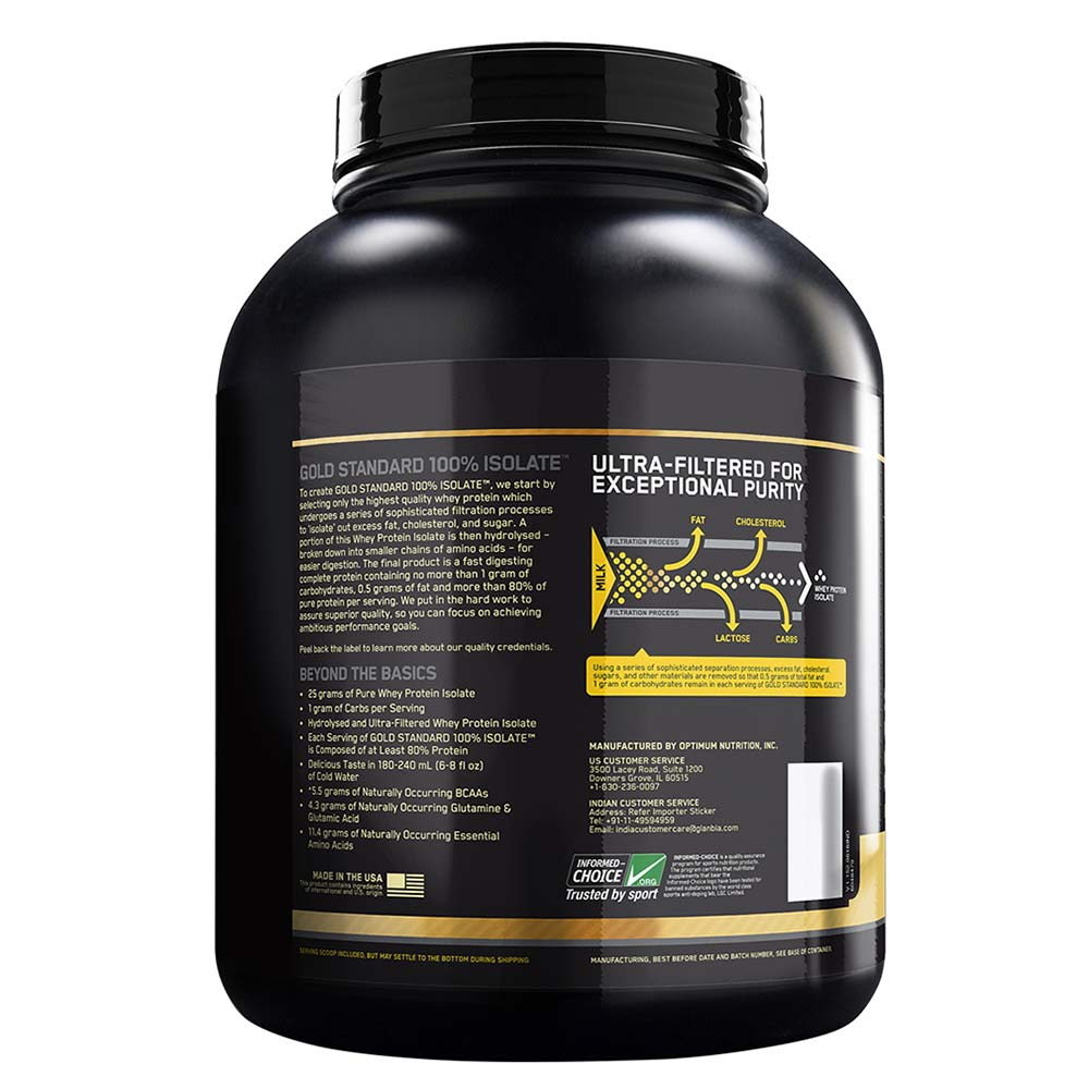 e6347251b Benefit - ON (Optimum Nutrition) Gold Standard 100% Isolate