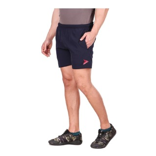 2 - Fitinc N S Lycra Shorts with Both Side Safety Zippered Pockets,  XXL  Navy Blue